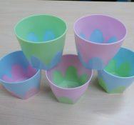 2色の底面メッシュ植木鉢(室内インテリア用)